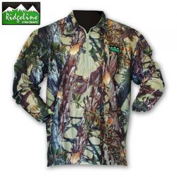 Ridgeline Sable Air Flow Long Sleeve Zip Top.