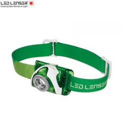 Ledlenser SEO 3 Headlamp – Green – 100 Lumens.