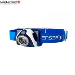 Ledlenser SEO 7R Headlamp – Blue / Rechargeable 220 Lumens.