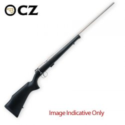 CZ 452 Nickel/Synthetic .22LR 16.5″ Rimfire Rifle.