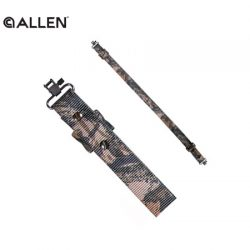 Allen 1 1/4″ Web Rifle Sling With Swivels – Mossy Oak Break Up Camo.