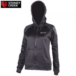 Stoney Creek Women's Hoodie Full Zip 365 Tech – Black.