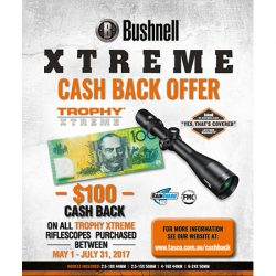 Bushnell Xtreme $100 Cash Back Offer.