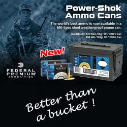 Federal Premium Ammunition Power-Shok Ammo Cans – 223Rem & 308 Win.
