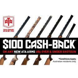 ATA Arms $100 Cash Back Via Redemption.