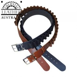 Colonial Leather Shotgun Cartridge Belt – Heavy Weight Leather With A Boot Leather Retainer.
