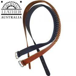 Colonial Leather .222 & .223 Caliber Belt – Heavy Weight Leather With A Boot Leather Retainer.