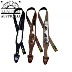 Colonial Leather 60mm Tapered Genuine Leather Cowhide Inlay Gun Sling.