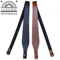 Colonial Leather 60mm Tapered Genuine Leather Padded Gun Sling.