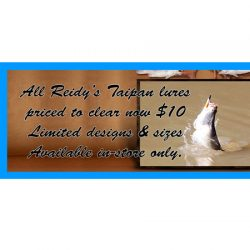 Reidy's Taipan Lures – Reduced To Clear.
