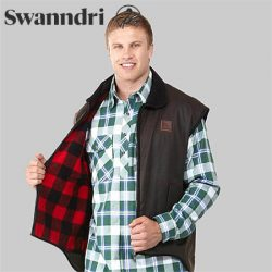 Swanndri Men's Foxton Oilskin Vest With Wool Lining.