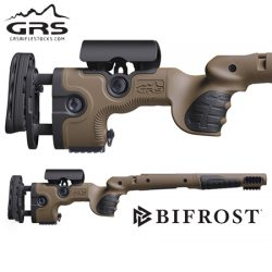 GRS Bifrost Rifle Stock – Tikka T3/T3x Brown, Left Hand.