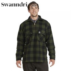 Swanndri Men's Ranger Wool Shirt With Zip Front.