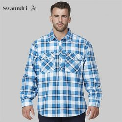 Swanndri Men's Egmont Long Sleeve Cotton Shirt – Twin Pack.