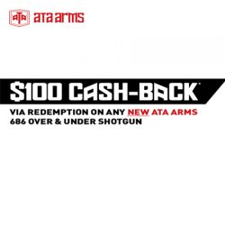 Back For 2018! The ATA Arms $100 Cash Back Via Redemption Promotion.