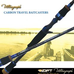 DFT Ultragraph 6′ 4-8kg 5 Piece Travel Baitcaster Rod.