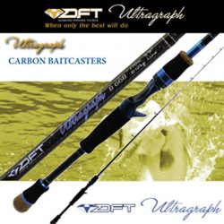 DFT Ultragraph 8-12kg 5ft 6″ 1 Piece Baitcaster Rod.