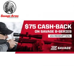 Savage Arms $75 Cash-Back Promotion 2018 / 2019.