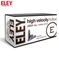 ELEY 22LR High Velocity HP 1250FPS Ammunition.