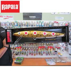 Rapala Giant Minnow Lure – Spotted Dog Design.