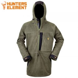 Hunters Element Bushman Half Zip Jacket – Forest Green.