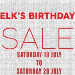 Elk's Birthday Sale.