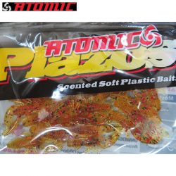 Atomic Plazos 1-1/2 Baby Craw Scented Soft Plastic Bait – Pumpkinseed.