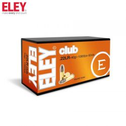 ELEY 22LR Club 40gr 1085 Fps Ammunition.