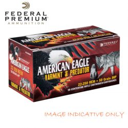 Federal 17 Hornet 20GR Tipped Varmint American Eagle Ammunition.
