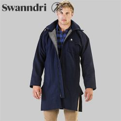 Swanndri Men's Mosgiel Wool Bushshirt With Zip-Up Front.