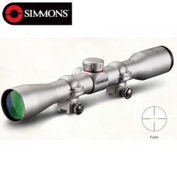Simmons 22 MAG 3-9×32 Truplex Rifle Scope Silver With Rings.
