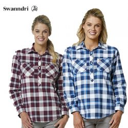 Swanndri Women's Egmont Long Sleeve Cotton Shirt Twin Pack.
