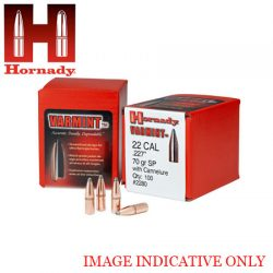 Hornady  22 Cal 50 Gr SPSX Projectiles.