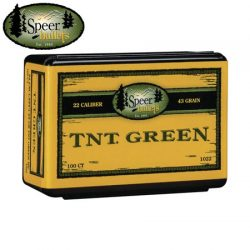 Speer 224 43GR TNT Green Projectiles.