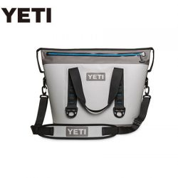Yeti Hopper 30 Soft Cooler – Fog Gray/Tahoe Blue.