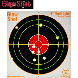 Glow Shot 6″ Targets – 50 Pack.