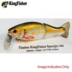 Kingfisher Spangle Timber 180mm Lures.