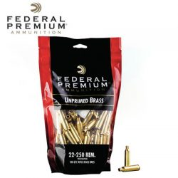 Federal Unprimed Brass 22-250 Rem.