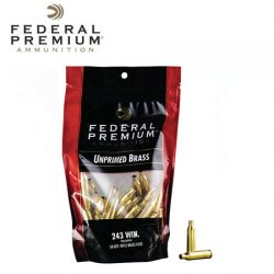 Federal Unprimed Brass 243 Win.