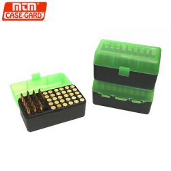 MTM Case-Gard Ammo Box 50rnd Flip Top 270up.