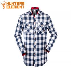 Hunters Element Huxley Shirt Navy Plaid.