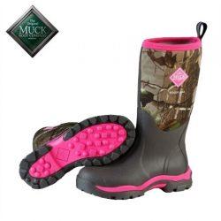 Muck Boot Women's Woody PK Pink Hunting Boot.